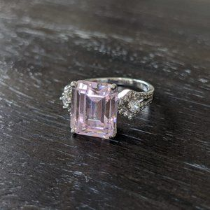 Sterling Silver Bella Luce Pretty in Pink Ring